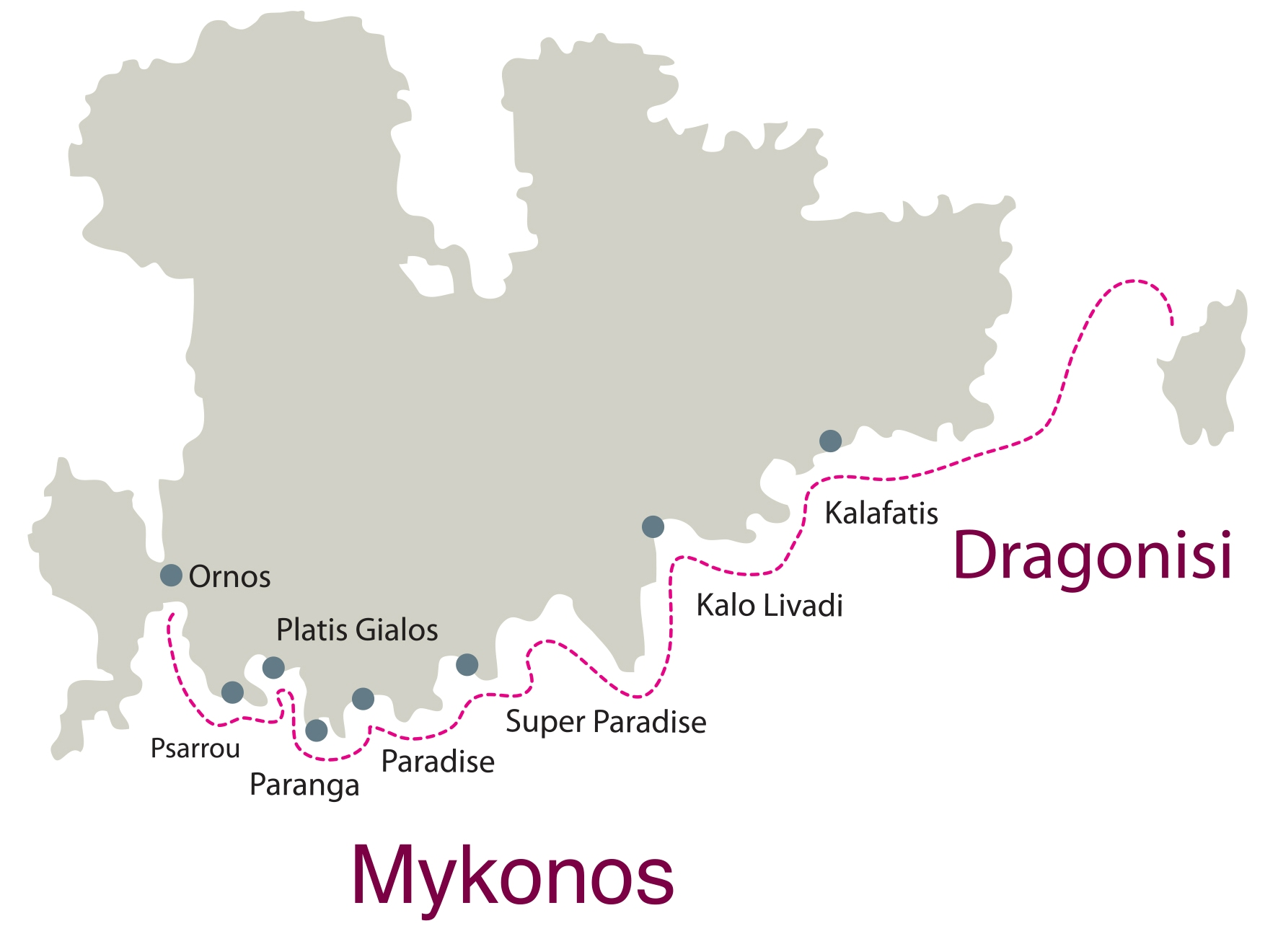 Don Blue Yacthing - Private Cruise - Mykonos South Coast Dragonisi Route