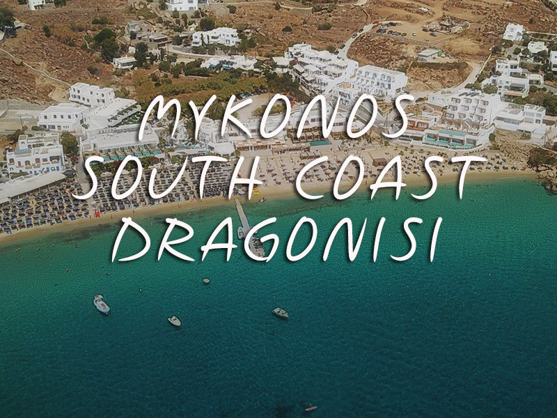 Mykonos-south-coast-Dragonisi-Don Blue Private Cruise