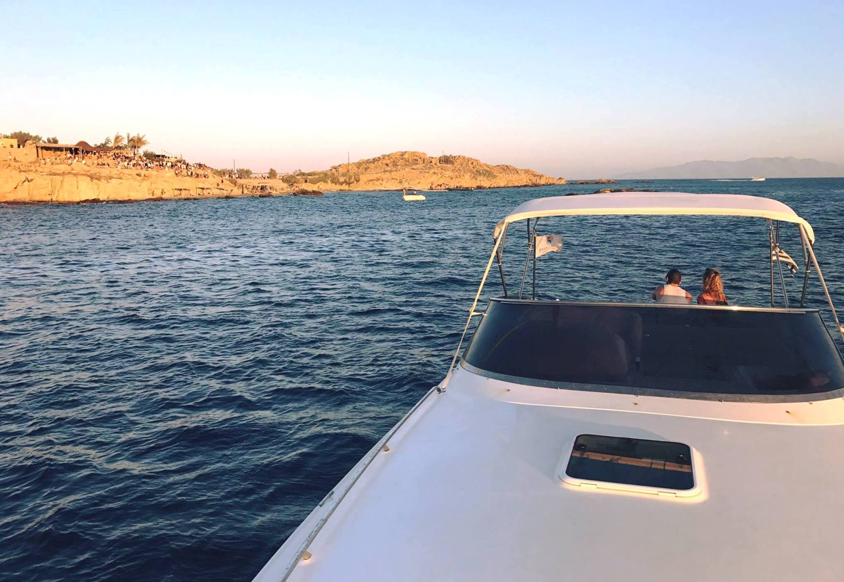 don blue mykonos south coast beaches - dragonisi private boat cruise