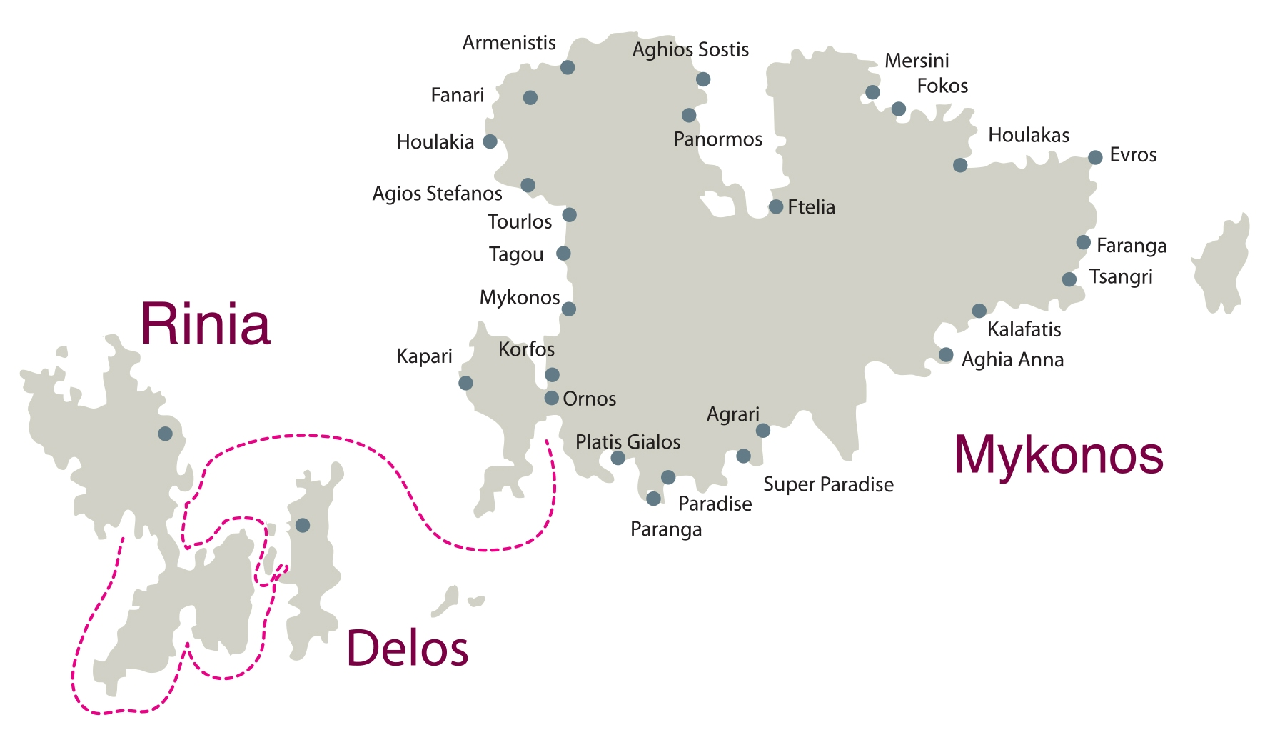 Don Blue Yacthing - Private Cruise Mykonos Delos Rhenia Route