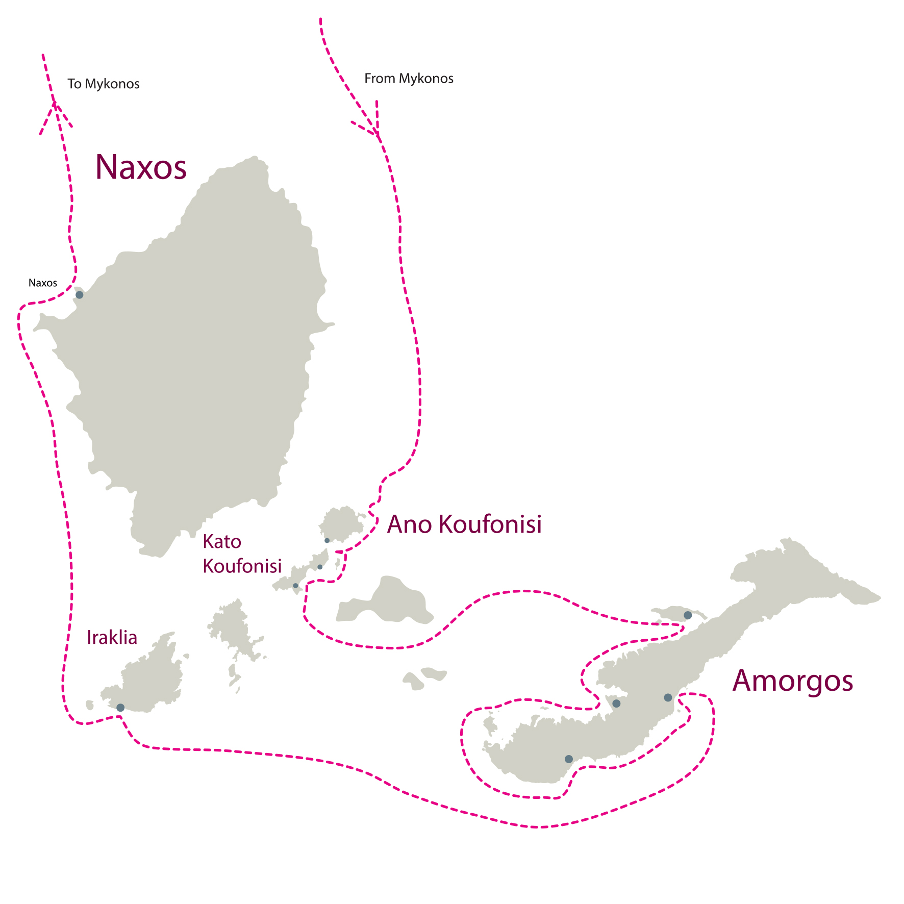 Mykonos-Koufonisia-Amorgos-Naxos-Don Blue Private Cruise