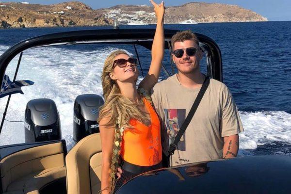 Mykonos Honeymoon Cruise, Wedding Proposal - Don Blue Private Boats