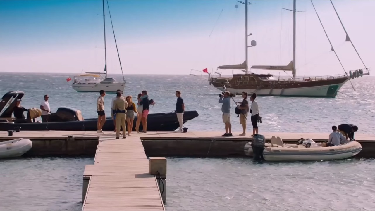 """Don Blue Yachting's boats starring in """"Greed"""" movie filmed in Mykonos!"""