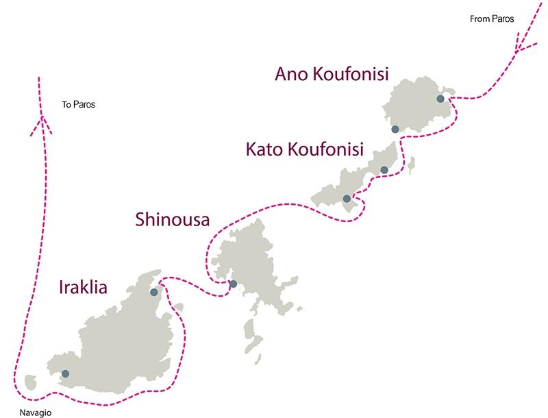 Private Day Cruise from Paros to Koufonisia - Schinousa - Heraklia